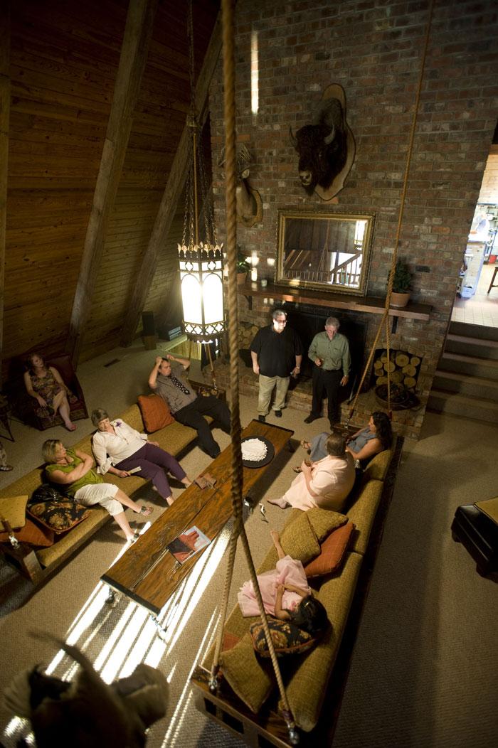 Inside the 5,000 sq ft Lodge